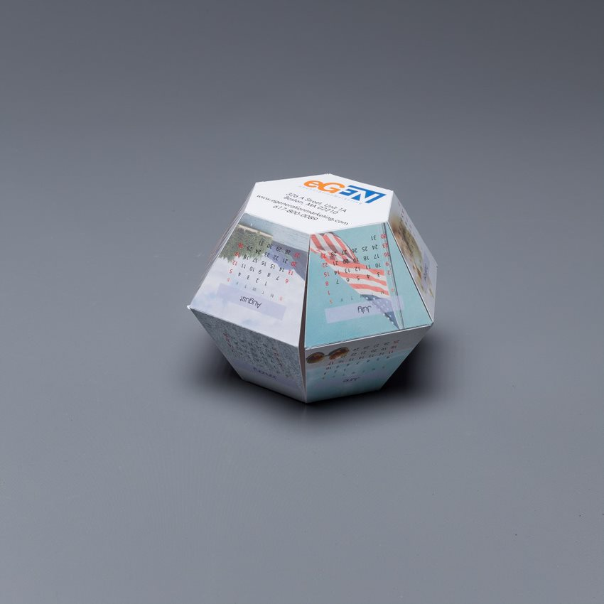 Send a lasting reminder of your companies with our Polygon Pop Up's. Sure to stay top of desk and top of mind