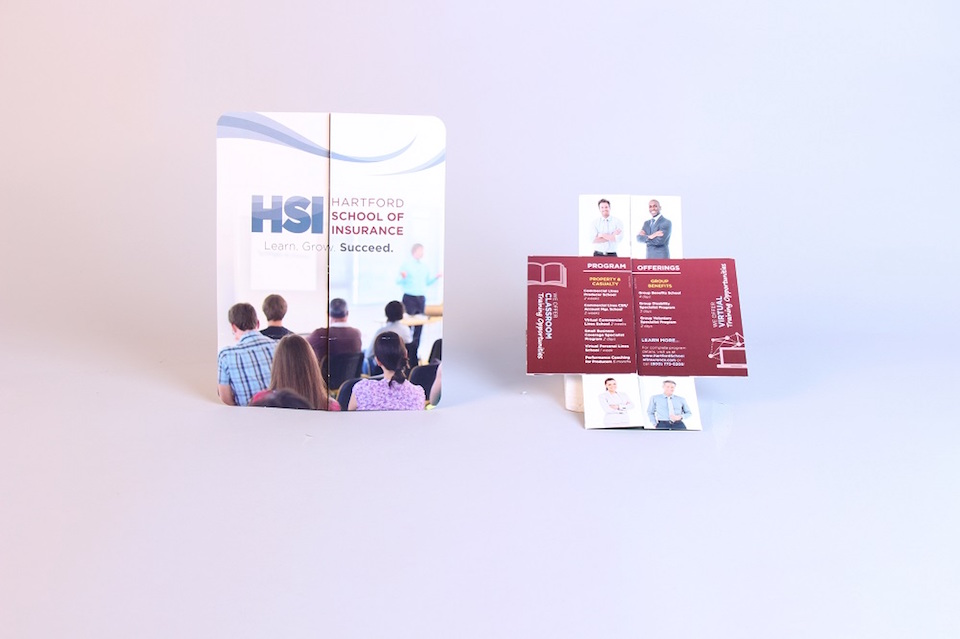 Hartford School of Insurance Creative Mailer Captures the Attention of New Customers Using the Tablet Flapper