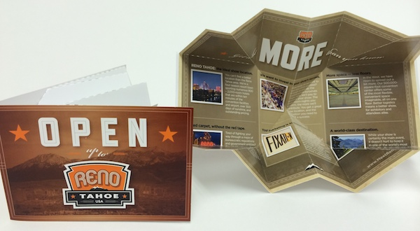 Reno Tahoe USA  Uses Small Exploding Page to Promote Trade Show