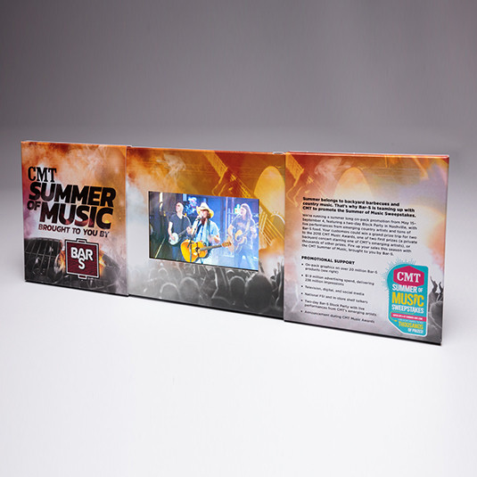 Pull the slider apart and your video begins to play, video is the most effective direct mail marketing