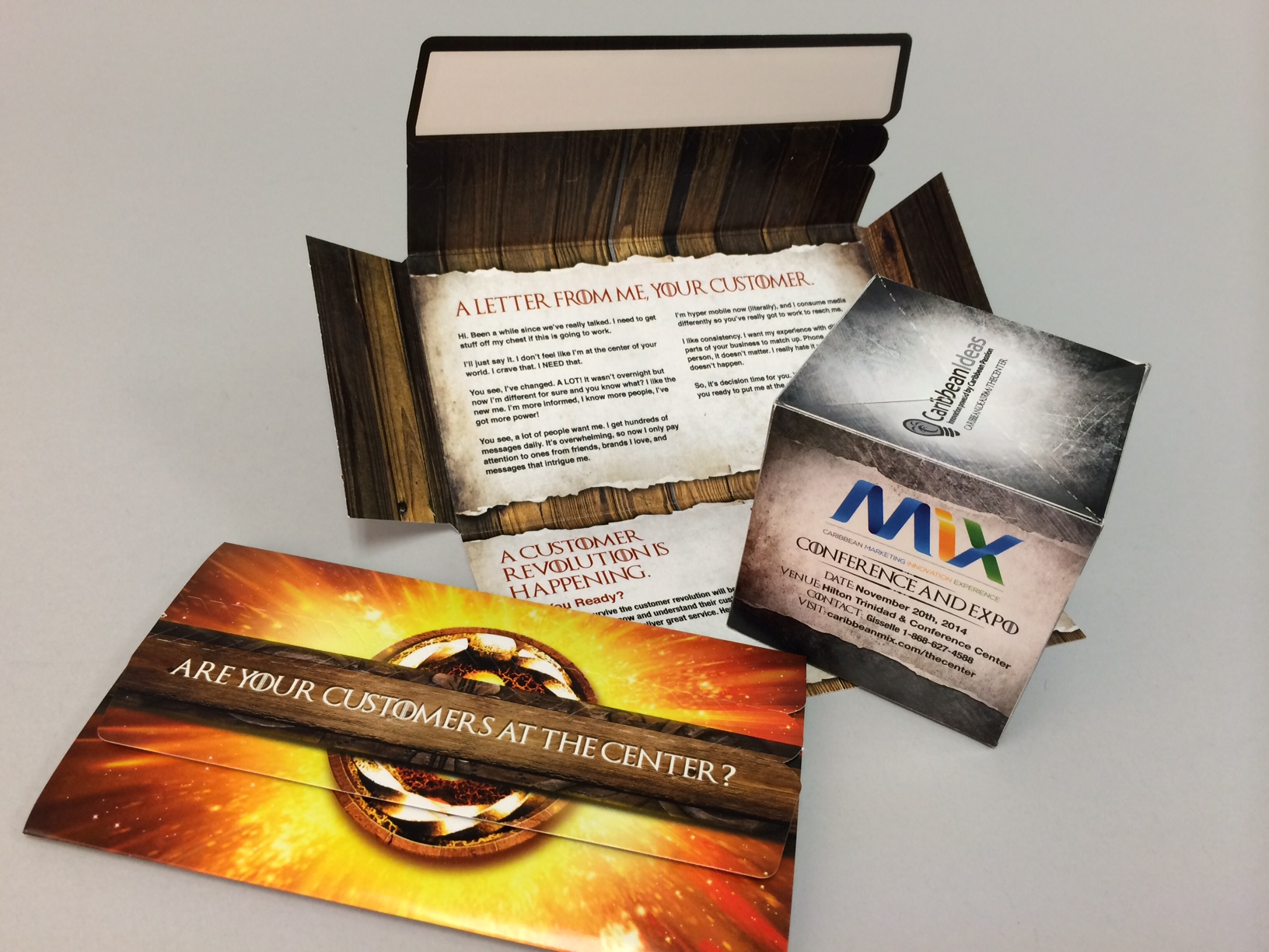 "Caribbean Ideas Limited Uses 3"" Pop Up Cube Self Mailer to Display Business Solutions"