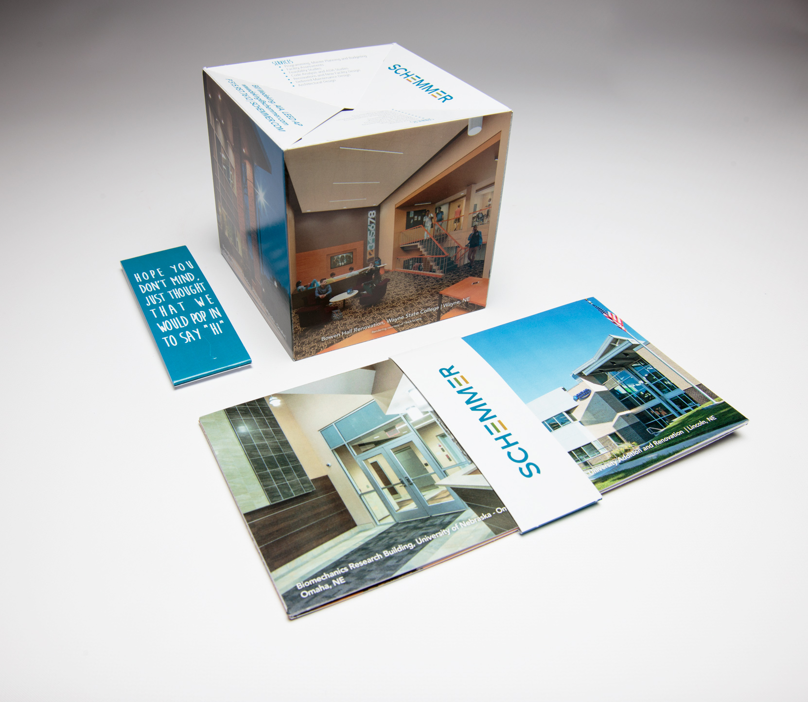 "Schemmer Creates Memorable Experience With 4.25"" Pop-Up Cube Mailer"