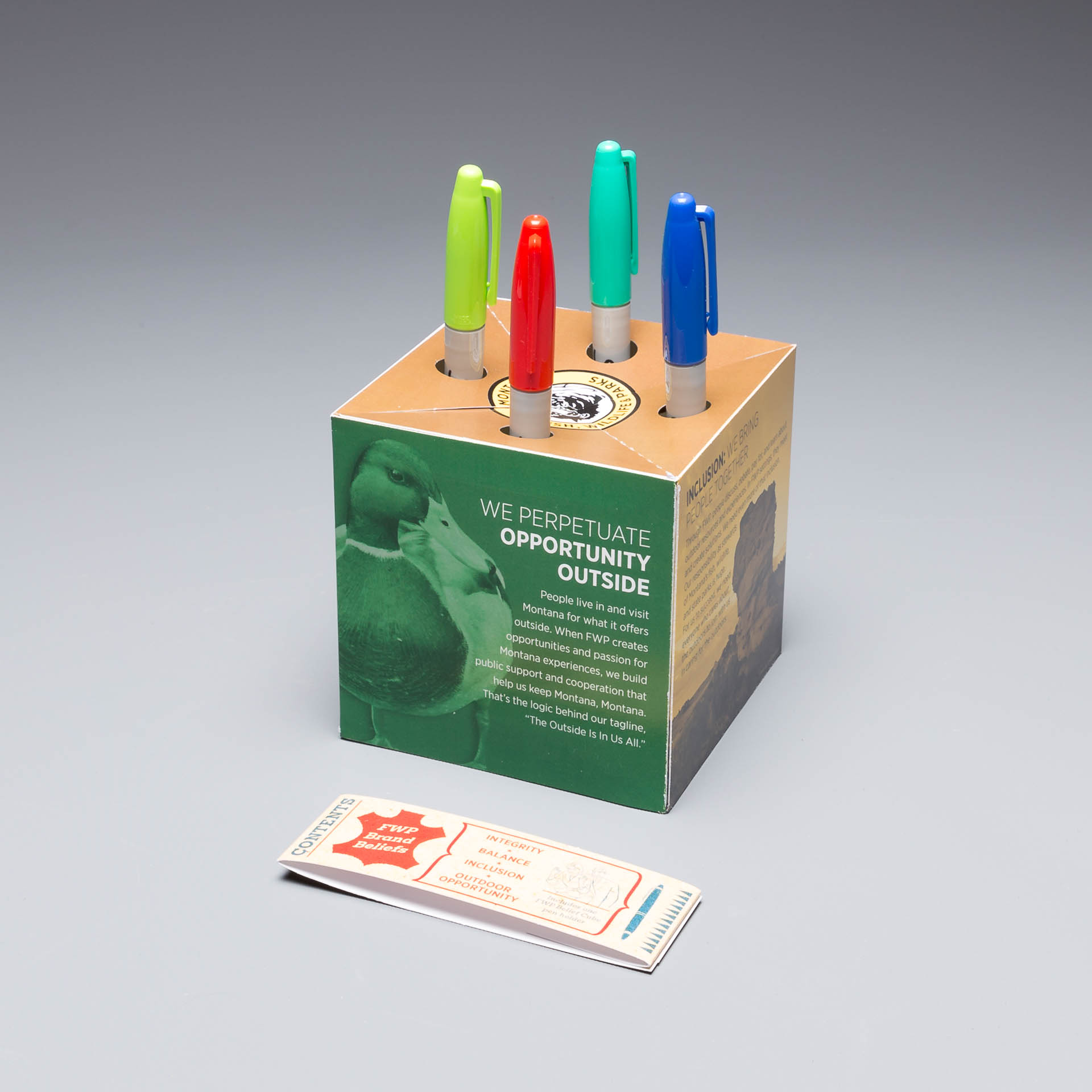 Fish, Wildlife, & Parks Uses the Pop Up Pen Holder to Help Them Re-Brand and Stand Out