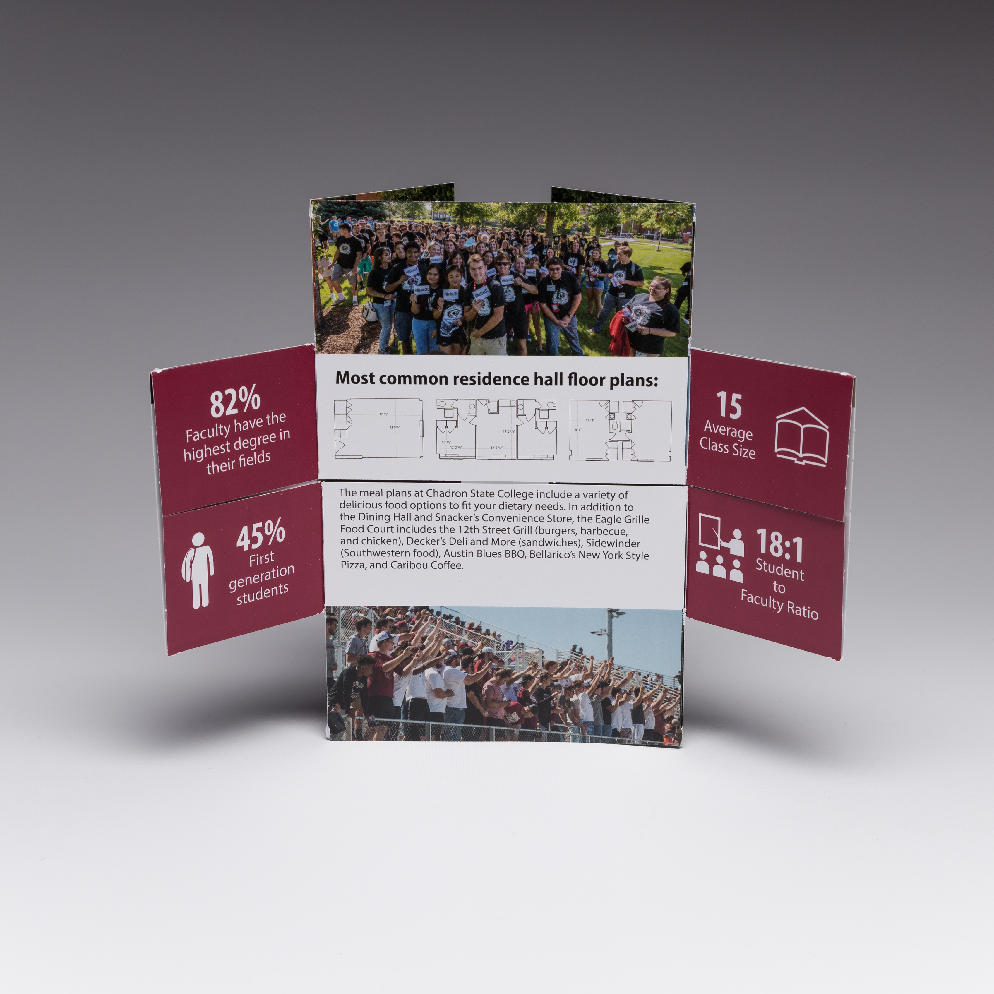 Capture your schools top prospects with our Flapper. Sure to be the most engaging college mailer your students get