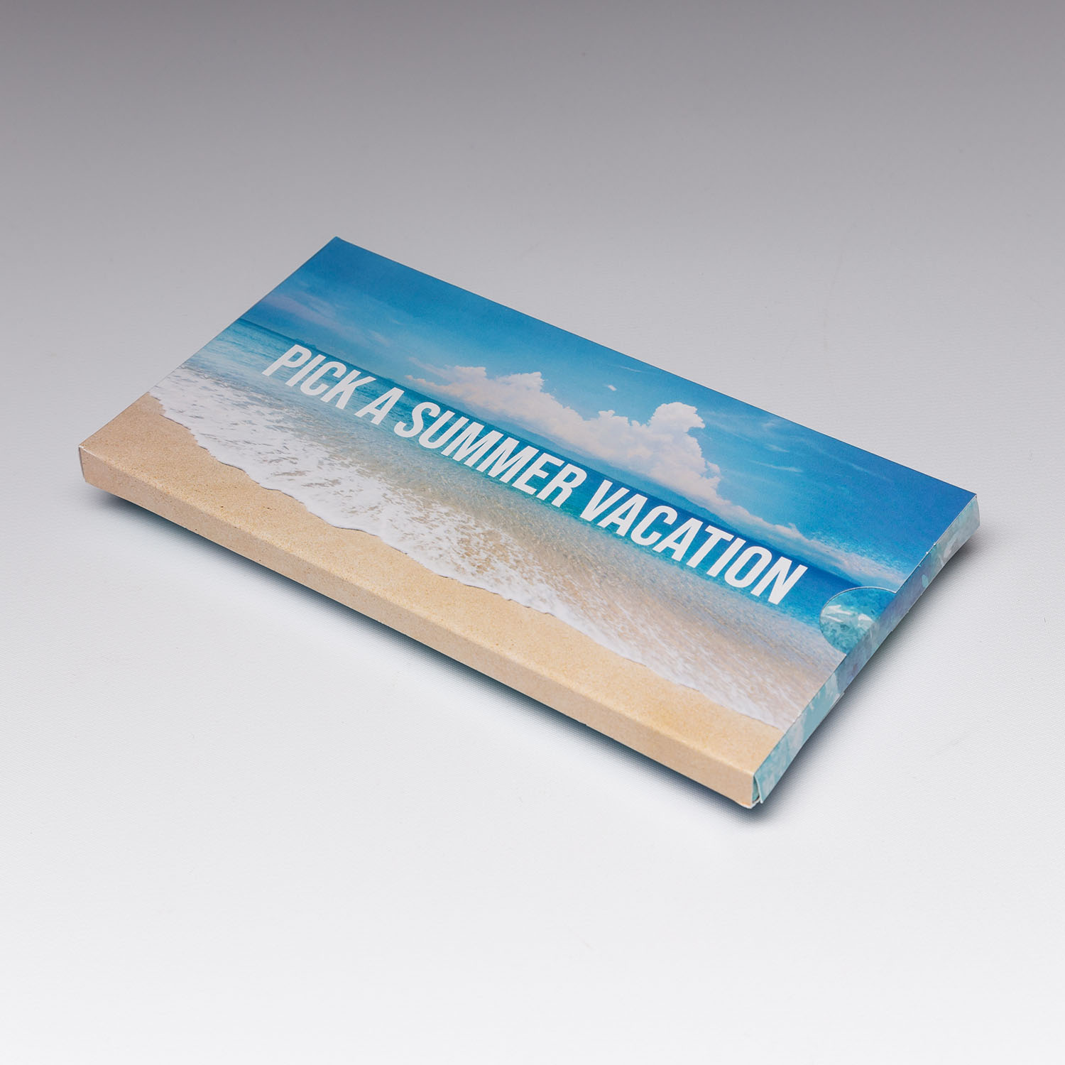 Surprise your direct mail recipients with our surprise slider. This piece is sure to stick around
