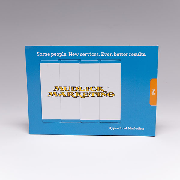 Make sure your companies rebranding is heard, our direct mail marketing Magic Changing Picture shows the shift perfectly
