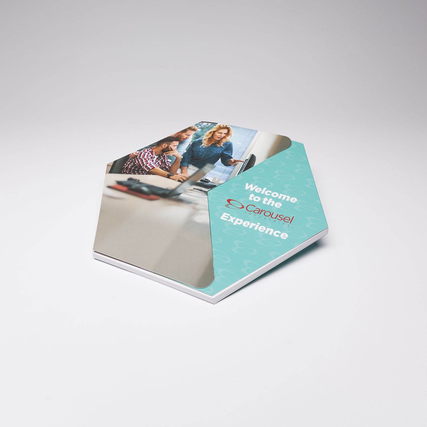 Our Hexagon Video Brochure is an example of a custom job we had the opportunity to run