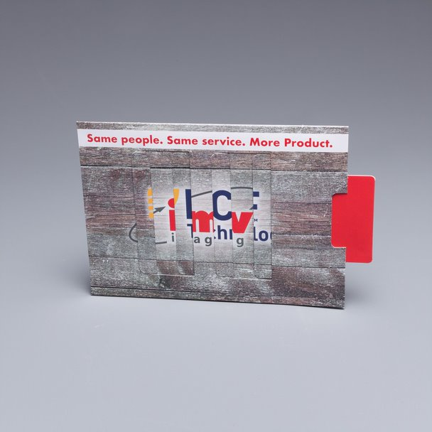 Make sure your companies rebranding is heard, our direct mail marketing Magic Changing Picture perfectly shows the shift